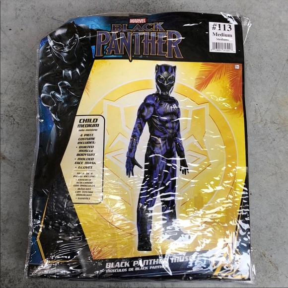 NWT Black Panther Muscle Kids Costume!